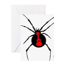 Ukulele Spider Greeting Card