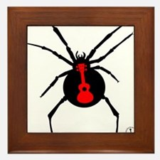 Ukulele Spider Framed Tile