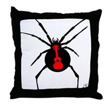 Ukulele Spider Throw Pillow