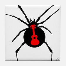 Ukulele Spider Tile Coaster
