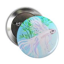 "White Siamese Fighting Fish_pillow 2.25"" Button"