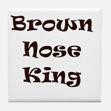 Brown nose Tile Coaster