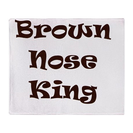 Brown nose Throw Blanket