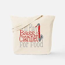 Will Play Bass Clarinet dark Tote Bag