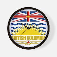 British Columbia Flag (Flag 10) Wall Clock