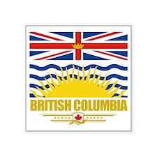 "British Columbia Flag (Flag Square Sticker 3"" x 3"""