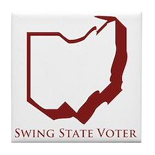 Swing State Voter Ohio Tile Coaster