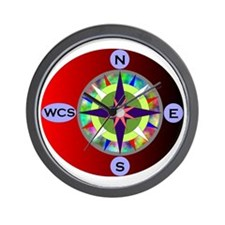 wcs compass 2 Wall Clock