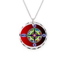 wcs compass 2 Necklace Circle Charm