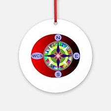 wcs compass 2 Round Ornament