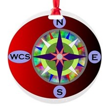 wcs compass 2 Ornament