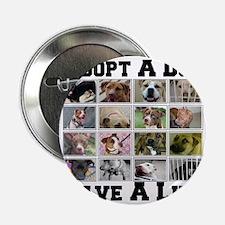 """adoptadog_plate001 2.25"""" Button"""