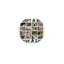 adoptadog_plate001 Mini Button