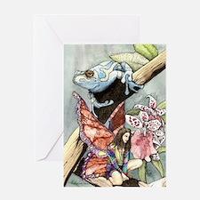 frogflowersfairy copy Greeting Card