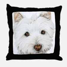 Cute West Highland White Terrier Dog Throw Pillow