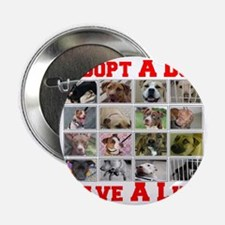 """adoptadog_plate001_red_transparent2 2.25"""" Button"""