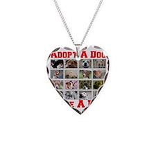 adoptadog_plate001_red_transp Necklace