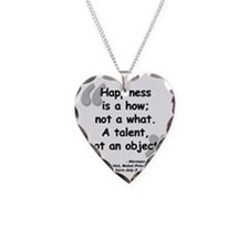 Hess Happiness Quote Necklace