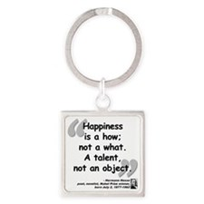 Hess Happiness Quote Square Keychain