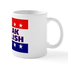 RectangleStickerSpeakEnglish Small Mug