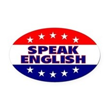 OvalStickerSpeakEnglish Oval Car Magnet