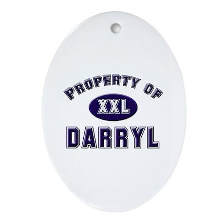 Property of darryl Oval Ornament