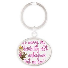 Dont worry girl Oval Keychain