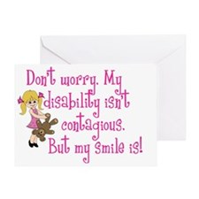 Dont worry girl Greeting Card