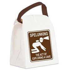 brown_spelunking_oddsign1 Canvas Lunch Bag