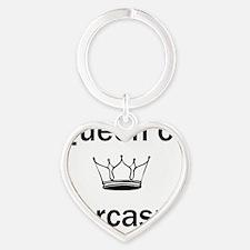 queen of sarcasm Heart Keychain