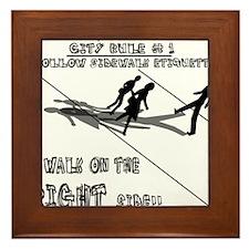 Sidewalk Etiquette Framed Tile