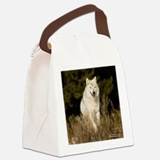 white wolf 10by Canvas Lunch Bag