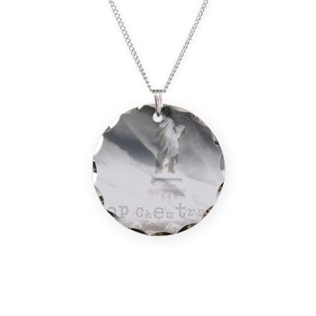 liberty chemtrails 2500Lt Necklace Circle Charm