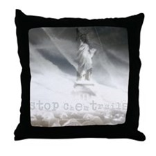 liberty chemtrails 2500Lt Throw Pillow
