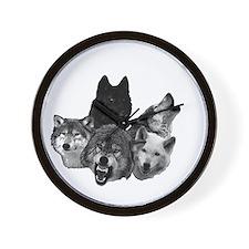 Wolves Moon 2 Wall Clock