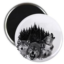 Wolves Night Moon Magnet
