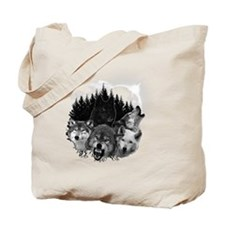 Wolves Night Moon Tote Bag