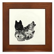 Wolves Moon 3 Framed Tile