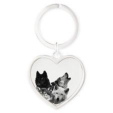 Wolves Moon 3 Heart Keychain