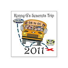 "SeacretsTrip2011Logo Square Sticker 3"" x 3"""