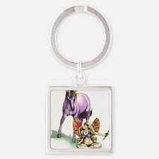 unicorn Square Keychain
