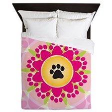 Paw Prints Flower Queen Duvet
