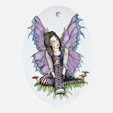 Purplelaces Oval Ornament