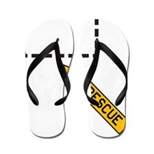 rescue_shirt_light Flip Flops