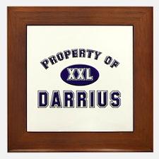 Property of darrius Framed Tile