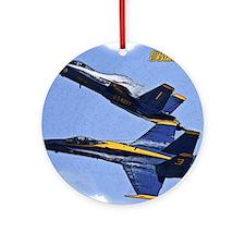 CP.Blues_142.16x20.posterize2 Round Ornament