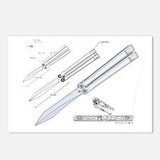 balisong knife postcards balisong knife post card design template. Black Bedroom Furniture Sets. Home Design Ideas