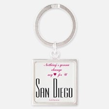 SanDiego_10x10_NothingGoingToChang Square Keychain
