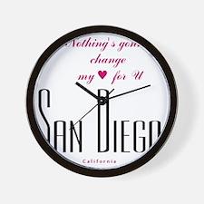 SanDiego_10x10_NothingGoingToChangeMyLo Wall Clock