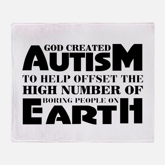 Autism support Throw Blanket